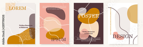 Fototapeta Modern cover design templates set