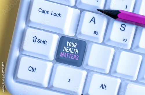 Fotografia  Writing note showing Your Health Matters
