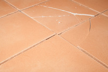 Cracked Floor Tiles From Tenting