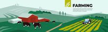Vector Illustration Of Farm La...