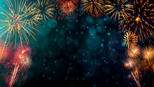 Fireworks With Abstract Bokeh ...