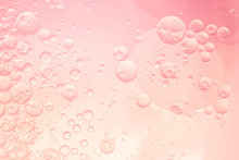 Abstract Pink Water Bubbles Ba...