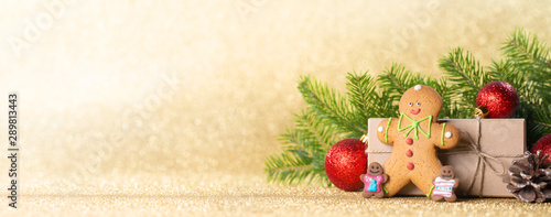 Christmas gift box and decor