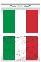 Vector Grunge Flag Of Italy Background