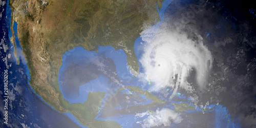 Fototapety, obrazy: Hurricane Humberto extremely detailed and realistic high resolution 3d image. Shot from Space. Elements of this illustration are furnished by NASA.