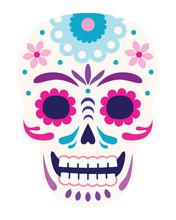 Day Of The Dead, Sugar Skull, Flat Design