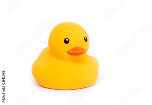 Fototapeta  Rubber yellow Duck, Duckling Toy isolated on white Background