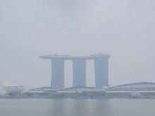Haze Covers Singapore Downtown Area