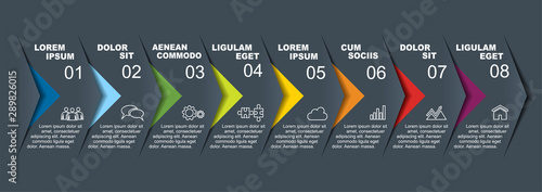 Cuadros en Lienzo Infographic design template with place for your data