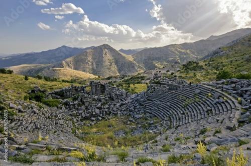 Photo sur Aluminium Kaki Ancient city of sagalassos Burdur Turkey ( fountain of antonins )