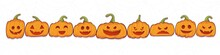 Set Of Halloween Pumpkins Vect...