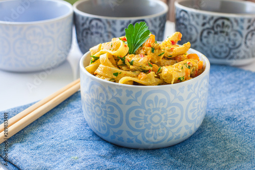 Photo  Chicken curry noodles