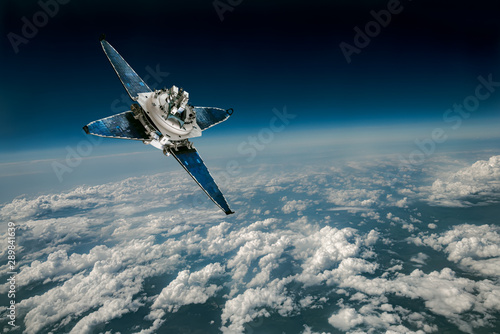 Space satellite over the planet earth - 289841639