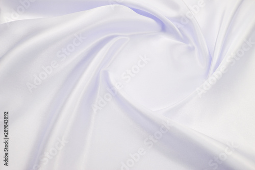 Obraz na plátně  Delicate satin draped fabric white texture for festive backgrounds