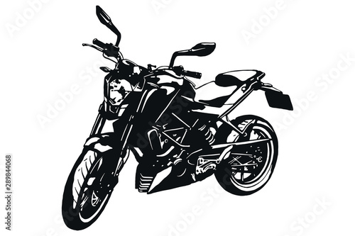 Poster Motorcycle Custom Motorcycle Graphic Poster Illustration. Vector isolated bike logo icon.
