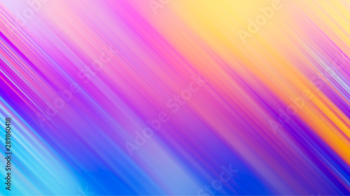 canvas print motiv - c_atta : Abstract rainbow gradient color motion blur diagonal line background