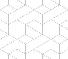 Vector Seamless Cubic Hexagon ...