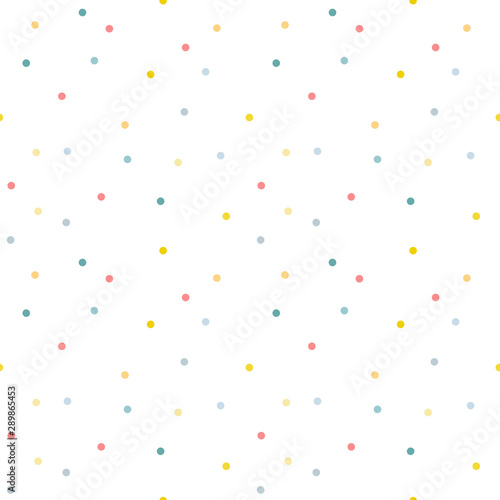 Photo  Seamless pattern. Multi-colored circles on a white background.