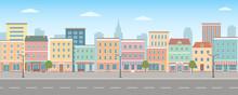 City Life Illustration With Ho...
