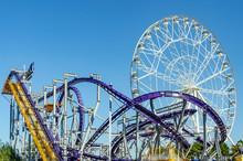 Rollercoaster And Ferris Wheel...