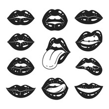 Lips Collection. Vector Illust...