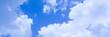 Leinwanddruck Bild - Blue sky background banner