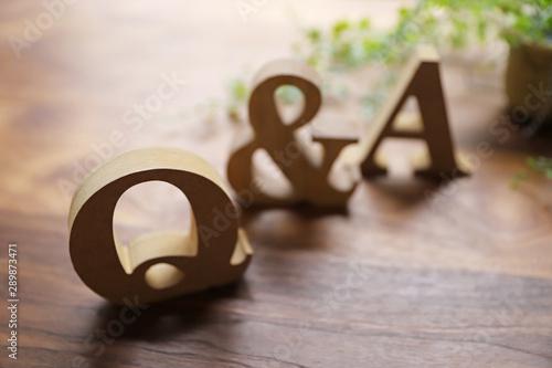 Q&A Billede på lærred