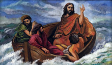Jesus Calms A Storm On The Sea, Shrine Of The Our Lady Queen Of Peace In Hrasno, Bosnia And Herzegovina