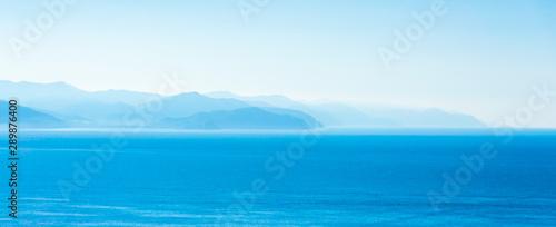Photo Wide wallpaper panorama with sea view  - Portofino, Italy