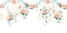 Seamless Border With Wedding Decor For Wallpaper