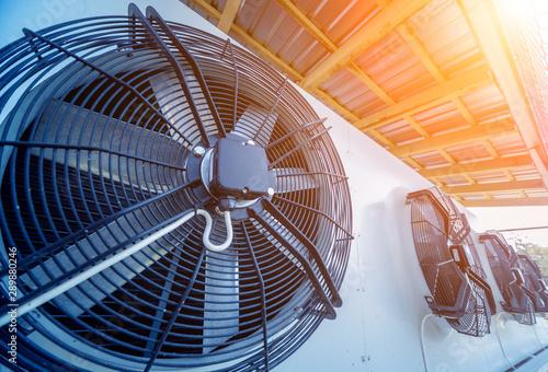 Fotomural  Metal industrial air conditioning vent. HVAC. Ventilation fan.