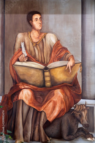 Fotografie, Obraz  Saint Luke the Evangelist, altarpiece in the Church of Saint Luke in Travno, Zag