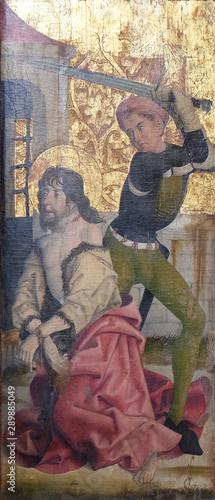 Valokuvatapetti Beheading of St