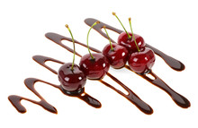 Group Of Ripe Cherries Dipped ...