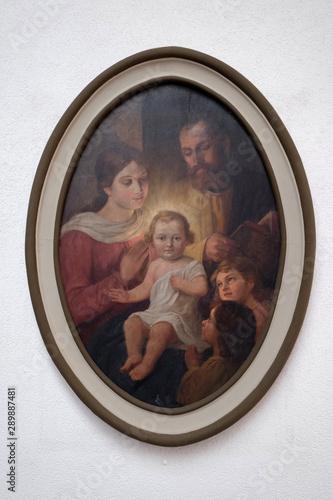 Valokuvatapetti Holy Family, altarpiece in the church of St