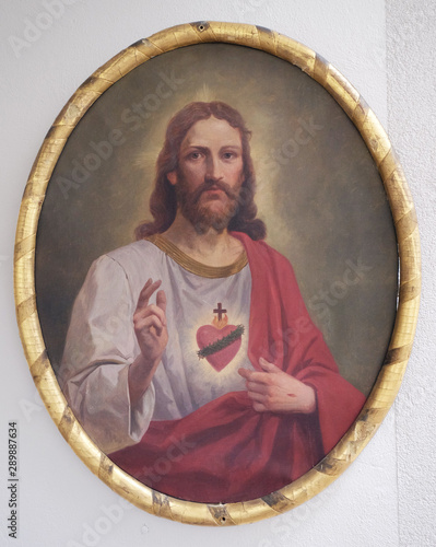 Lerretsbilde Sacred Heart of Jesus, altarpiece in the church of St