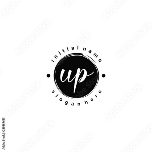 Obraz UP Initial beauty monogram logo vector - fototapety do salonu
