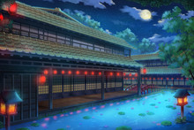 Fantasy Traditional Japanese House - Night