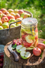 Preparation For Canned Apples ...