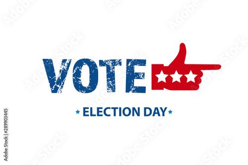 2020 Vote in USA american president banner Fototapet