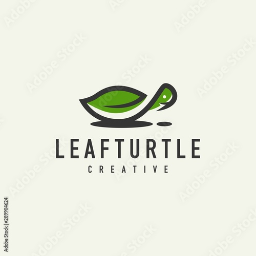 Obraz na plátně  turtle logo - design vector illustration of a light background