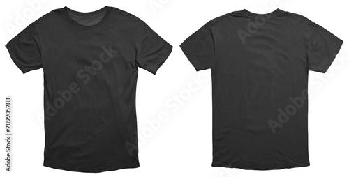 Fotomural  Black Shirt Design Template