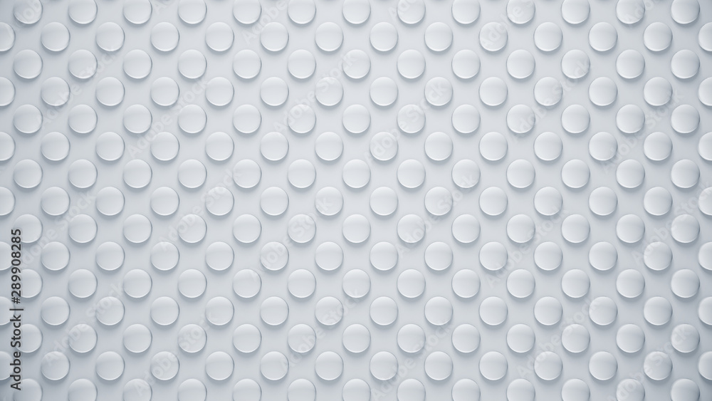 Fototapety, obrazy: Abstract gray background. Bright bubbles texture for modern design. Clean geometric pattern. 3d illustration.
