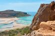 Balos lagoon in Crete, Greece.