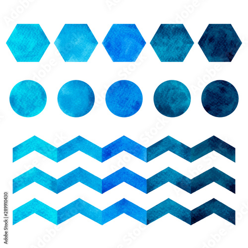 Water color hand painting blue and white,navy blue tone colorful seamless background Canvas-taulu