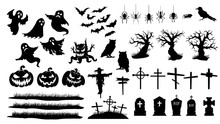 Collection Of Halloween Silhou...