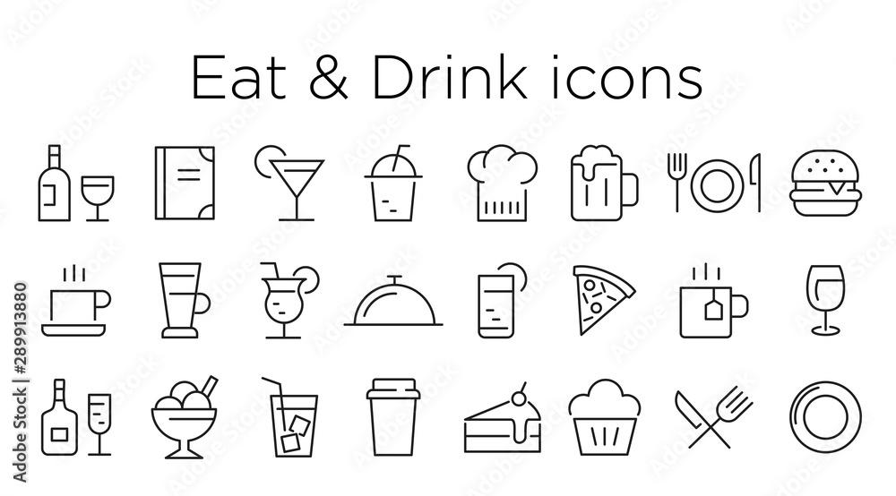 Obraz eat and drink icons fototapeta, plakat