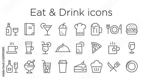 Fototapeta eat and drink icons obraz