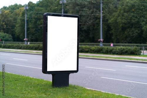 billboard mockup  White vertical billboard with white mockup