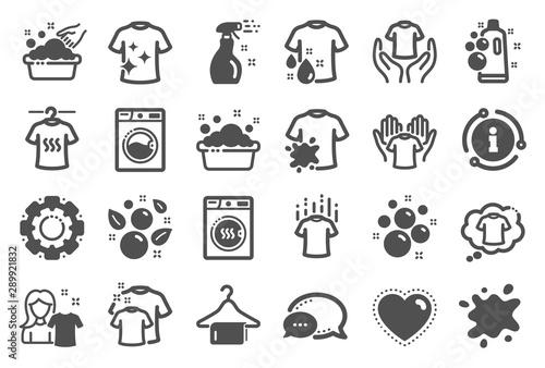 Obraz na plátně  Laundry icons